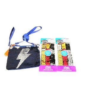 Other - Flip Reversible Sequin Purse & 6 bracelets bundle